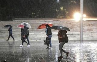 Bugün yer yer sağanak yağmur bekleniyor