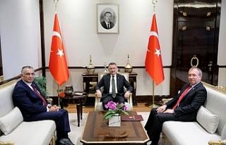 Çavuşoğlu, Fuat Oktay tarafından kabul edildi