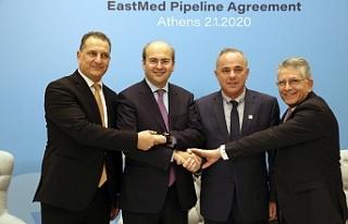 EastMed doğalgaz boru hattı anlaşması Atina'da...