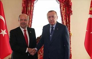 Erdoğan, Tatar ve Özersay'ı kabul etti