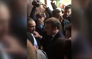 Fransa Cumhurbaşkanı Macron ile İsrail polisi arasında...