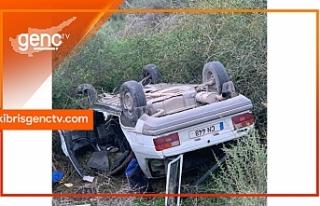 Girne - Alsancak çevre yolundaki trafik çarpışmasında...