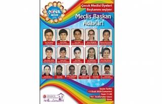 Girne Belediyesi Çocuk Meclisi başkan seçimi için...