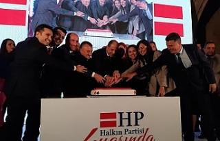 Halkın Partisi'nden 4'üncü kuruluş yıldönümü...