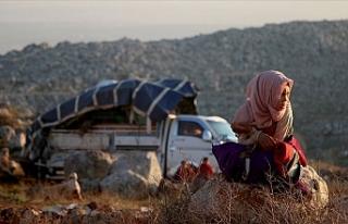 İdlib'deki saldırılardan kaçan 31 bin sivil...