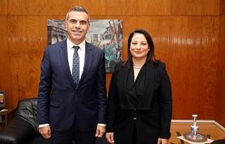 Uluçay, Ertürk'ü kabul ederek görüştü