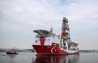 Yavuz sondaj gemisinin çalışmalarına Güneyden...