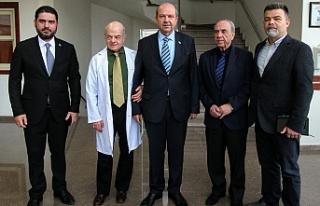 Başbakan, hastaların sevk edildiği Kolan Hastanesini...