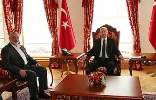 Erdoğan Hamas Lideri Heniyye'yi kabul etti