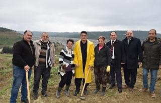 Oğuz, Geçitköy Barajındaki fidan ekimi etkinliğine...