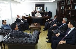 Türkiye Diyanet İşleri Başkanlığı temsilcileri...