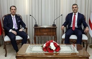 Uluçay, Fatih Erbakan'ı kabul etti