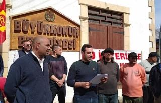 Büyükkonuk Belediyesi'nde süresiz grev
