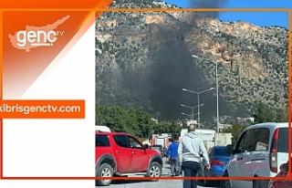 Girne Boğaz mevkiinde trafik felç oldu