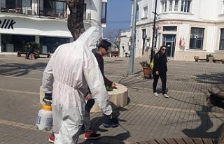 Girne'de önlemler devam ediyor