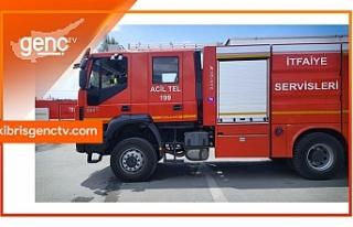 Girne'de yangın