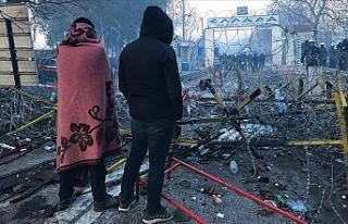 Sınırı geçmek isteyen göçmenlerin Edirne'ye...