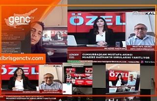 Cumhurbaşkanı Akıncı'nın KIBRIS GENÇ TV'de...