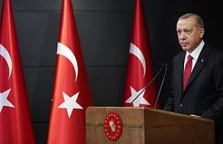 """Erdoğan: """"Hiçbir virüs, hiçbir salgın Türkiye'den..."""