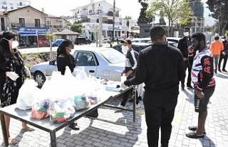 Girne'de duyarlı iş insanlarının yardımları...