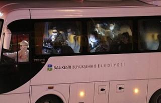 KKTC'den giden öğrenciler, Balıkesir'de...