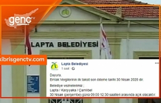 Lapta Belediyesi'nden 'Emlak Vergisi' duyurusu:...