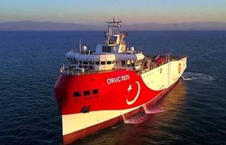 Rum Basını, Oruç Reis'in sismik araştırmalar...