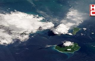Uzaydan görüntülendi, tsunami uyarısı yapıldı