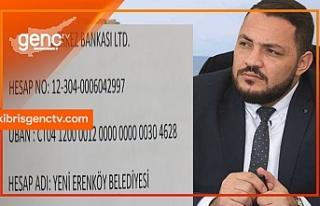 Yenierenköy Belediye Başkanı, kampanya başlattı...