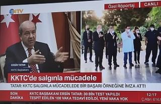 Başbakan Ersin Tatar NTV'de katıldığı özel...