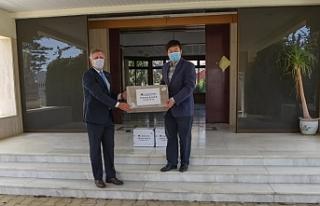 Çin Elçiliğinden 1200 maske teslim alındı