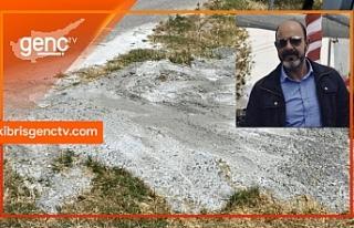 """Geçitkale Belediye Başkanı: """"Döktüğü betonu..."""