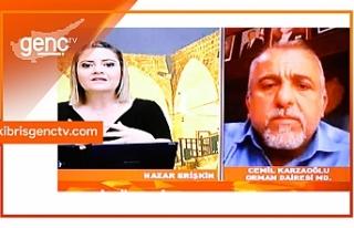 Karzaoğlu, Genç Tv yayınında yangın uyarı sisteminin...