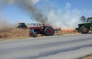 Paşaköy Mandıralar bölgesinde yangın