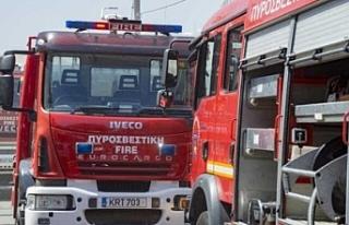 Rum polisi ve itfaiyesi yangınlarla mücadele için...