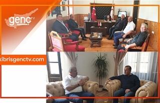 Ataoğlu'nun Belediyelere ziyaretleri sürüyor
