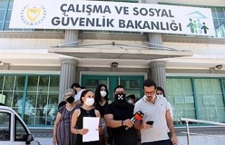Bakanlık önünde basın açıklaması