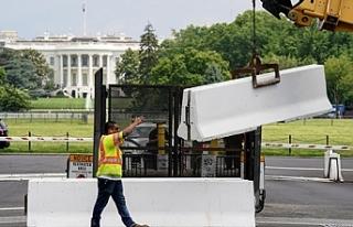 Beyaz Saray etrafına örülen çitler kaldırılıyor