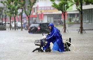 Çin'deki şiddetli yağış ve seller nedeniyle...