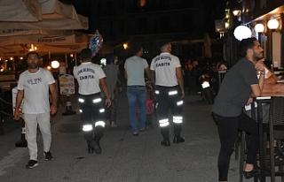Girne'de zabıtalar kordonboyunda devriye gerçekleştiriyor
