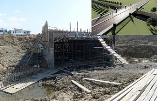 Gönyeli'de Özgürlük Köprüsü inşaatı...