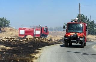Peristerona köyünde  yangın