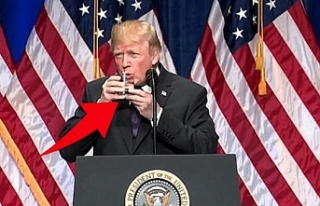 Trump'ın su içerken zor anlar yaşaması, uzmanlar...