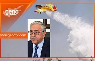 """""""Türkiye'ye ait yangın helikopteri Kuzey Kıbrıs'ta..."""