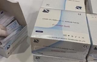 15 bin PCR test kiti alındı