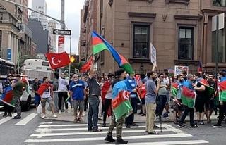 ABD'deki Azeri ve Türk vatandaşlar, New York'ta...