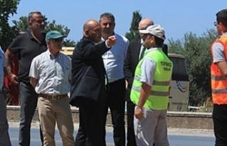 Bakan Atakan bugün başlayan Girne batı çevreyolu...