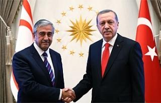 Cumhurbaşkanı Akıncı ile TC Cumhurbaşkanı Erdoğan...