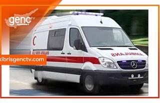 Girne'de motosiklet çarpışması: Motosiklet sürücüsü...