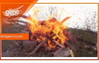 İzinsiz ateş yakan şahıs hakkında yasal işlem
